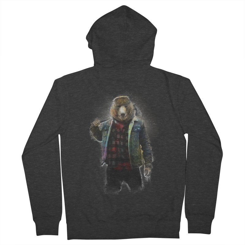 Blizzard Bear Men's French Terry Zip-Up Hoody by daniac's Artist Shop