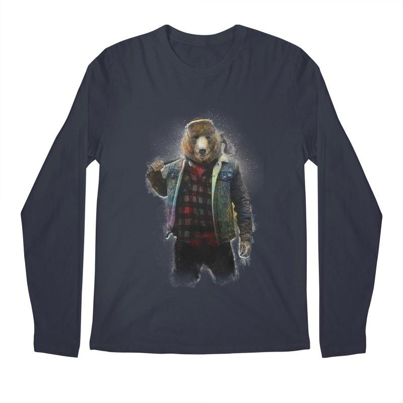 Blizzard Bear Men's Regular Longsleeve T-Shirt by daniac's Artist Shop