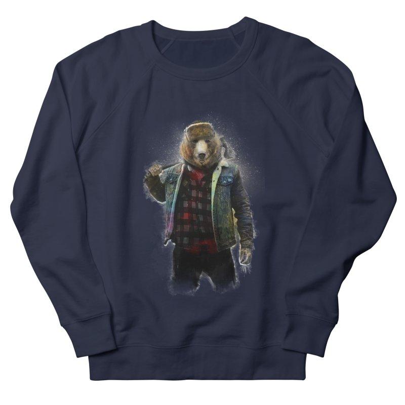 Blizzard Bear Women's French Terry Sweatshirt by daniac's Artist Shop