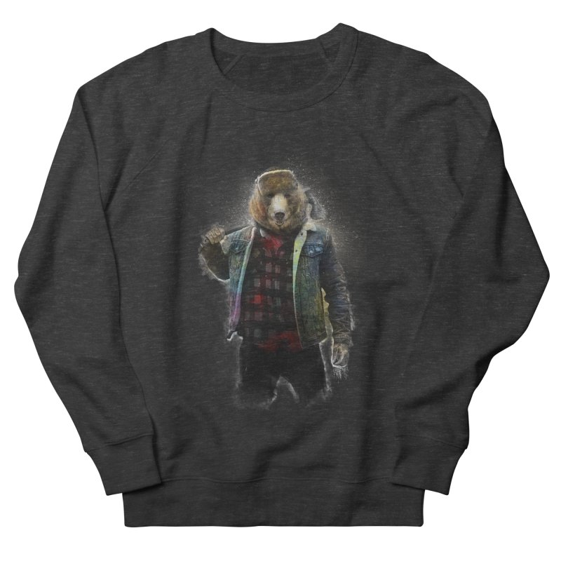 Blizzard Bear Men's French Terry Sweatshirt by daniac's Artist Shop