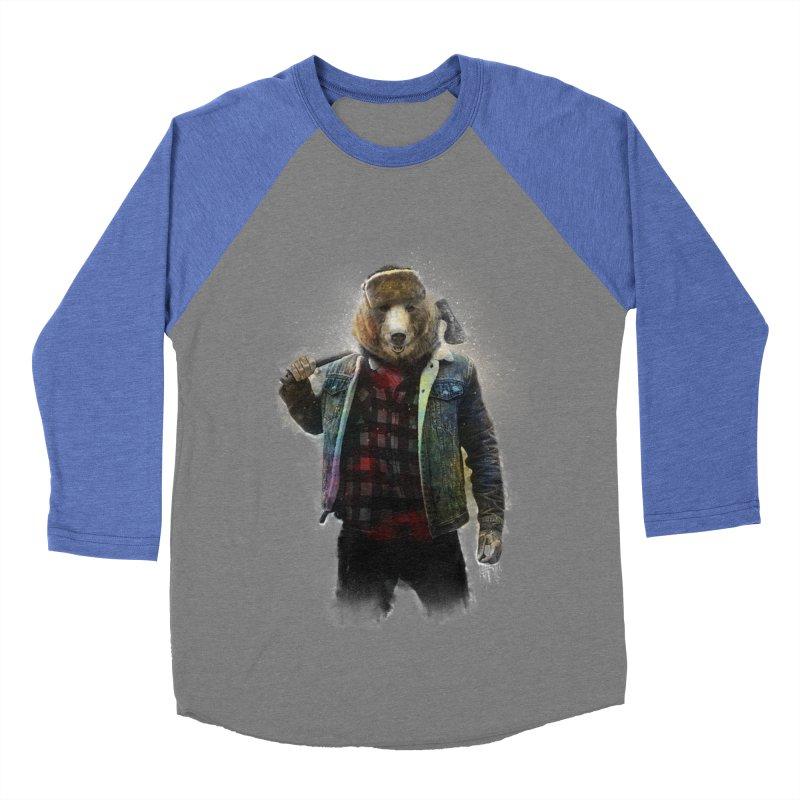 Blizzard Bear Men's Baseball Triblend Longsleeve T-Shirt by daniac's Artist Shop