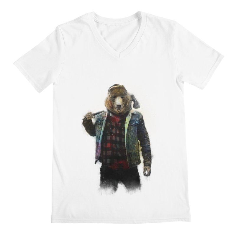 Blizzard Bear Men's Regular V-Neck by daniac's Artist Shop