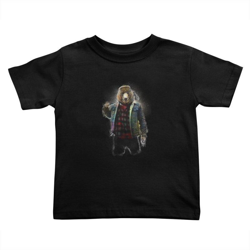 Blizzard Bear Kids Toddler T-Shirt by daniac's Artist Shop