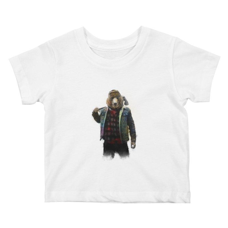 Blizzard Bear Kids Baby T-Shirt by daniac's Artist Shop
