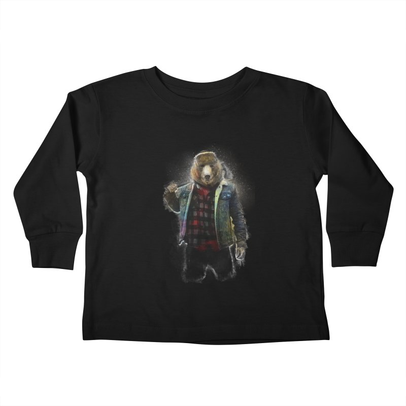 Blizzard Bear Kids Toddler Longsleeve T-Shirt by daniac's Artist Shop