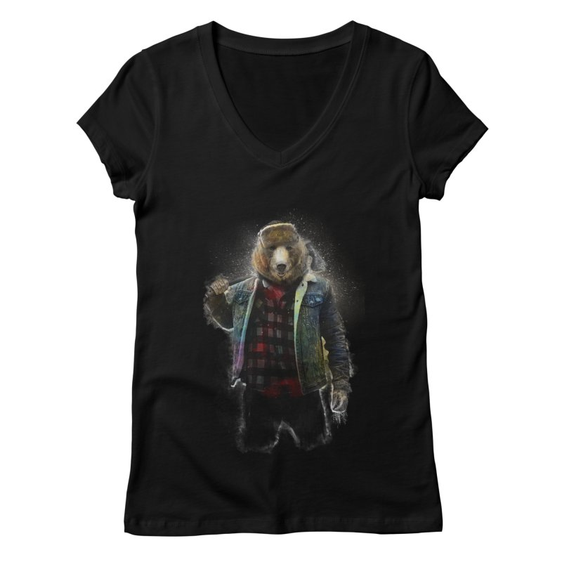 Blizzard Bear Women's Regular V-Neck by daniac's Artist Shop