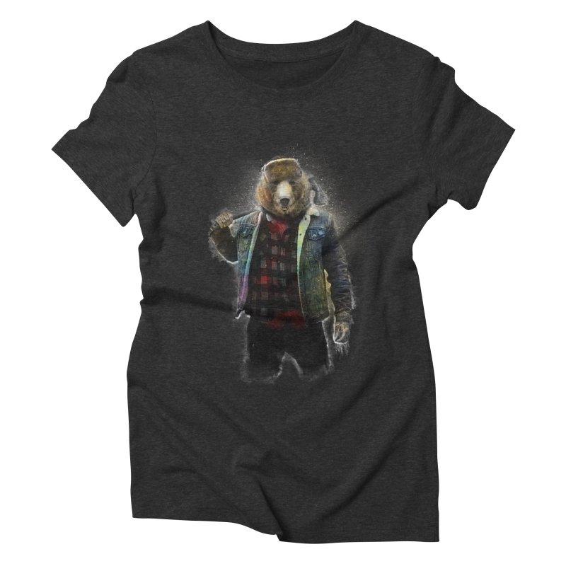 Blizzard Bear Women's Triblend T-Shirt by daniac's Artist Shop