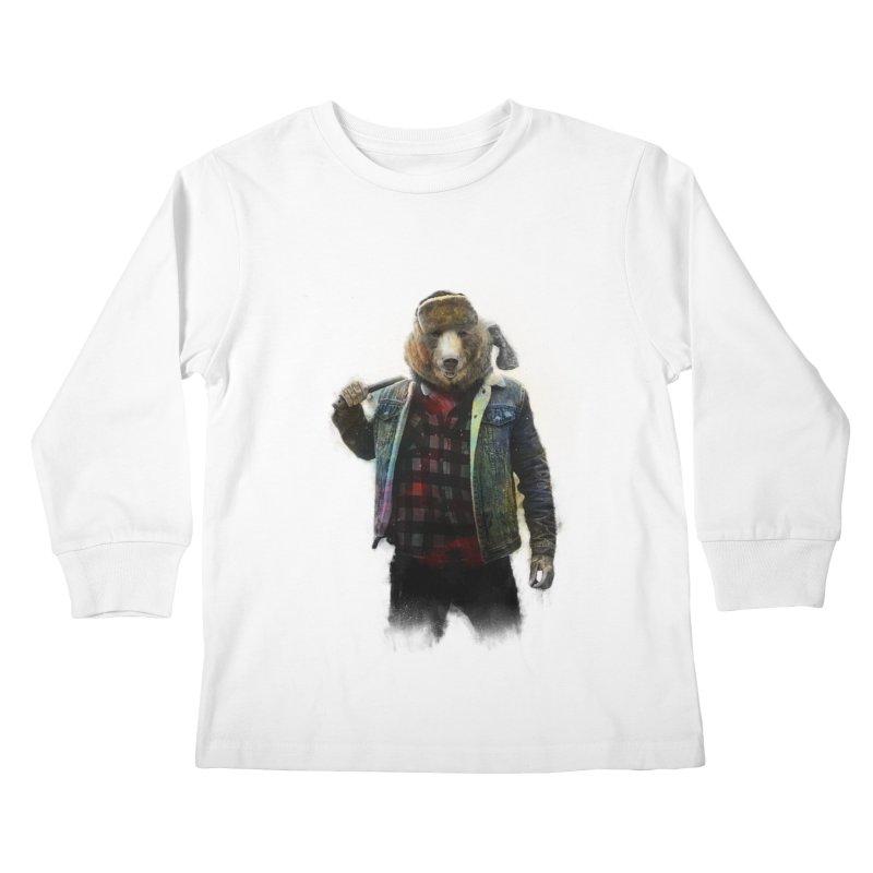 Blizzard Bear Kids Longsleeve T-Shirt by daniac's Artist Shop