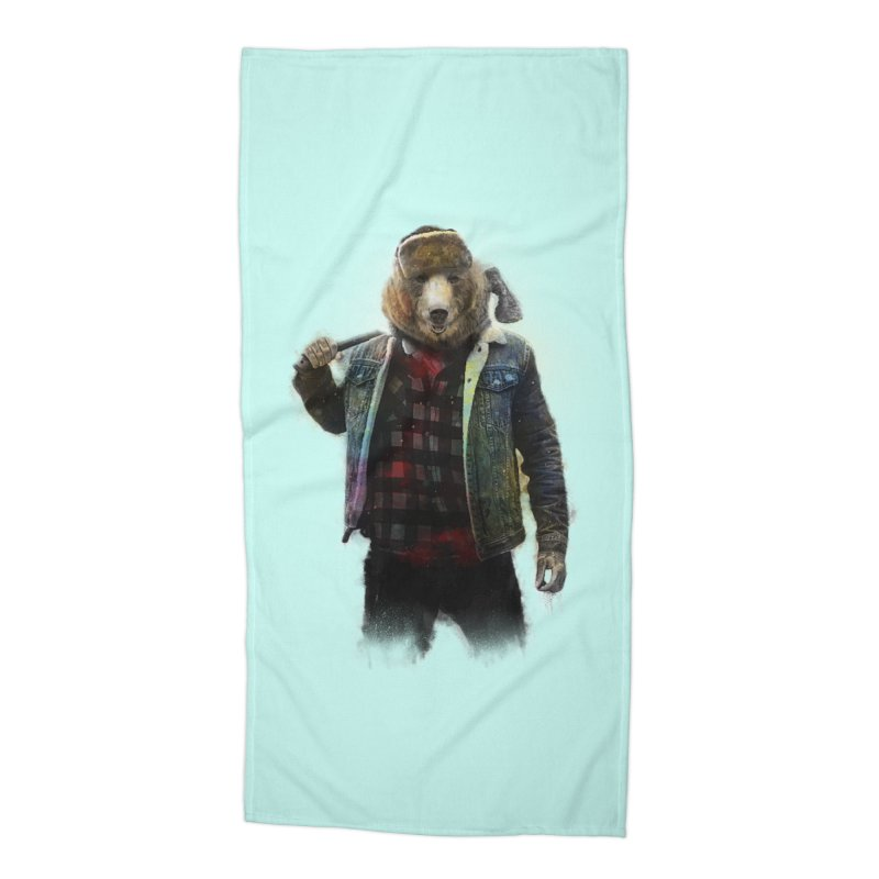 Blizzard Bear Accessories Beach Towel by daniac's Artist Shop