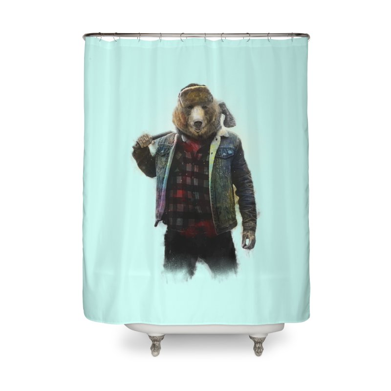 Blizzard Bear Home Shower Curtain by daniac's Artist Shop
