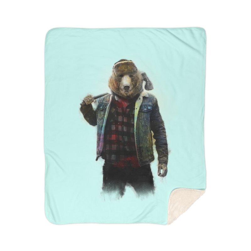 Blizzard Bear Home Sherpa Blanket Blanket by daniac's Artist Shop