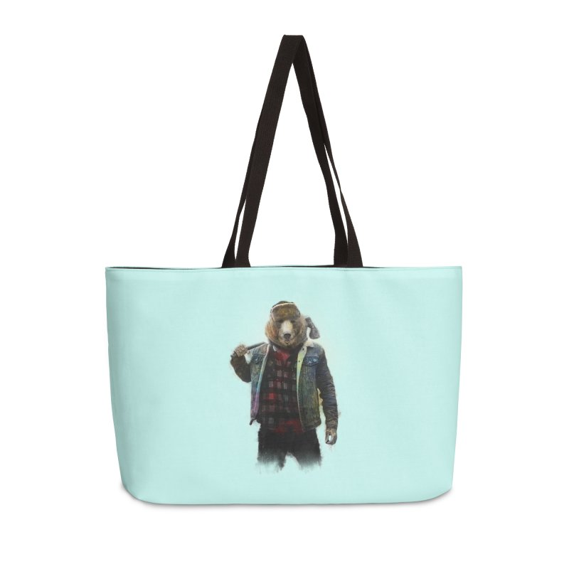 Blizzard Bear Accessories Weekender Bag Bag by daniac's Artist Shop