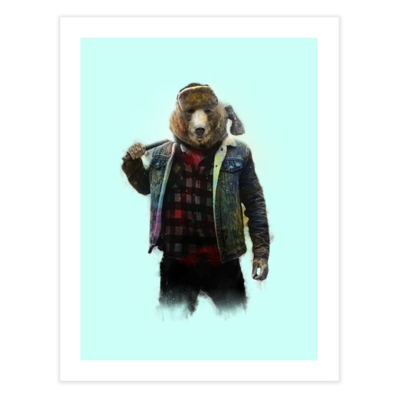 Blizzard Bear Home Fine Art Print by daniac's Artist Shop
