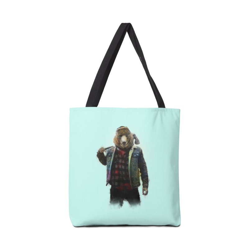 Blizzard Bear Accessories Bag by daniac's Artist Shop