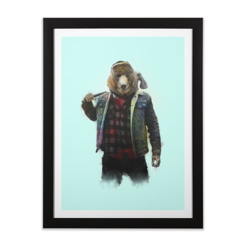 Blizzard Bear Home Framed Fine Art Print by daniac's Artist Shop