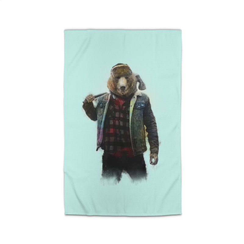 Blizzard Bear Home Rug by daniac's Artist Shop