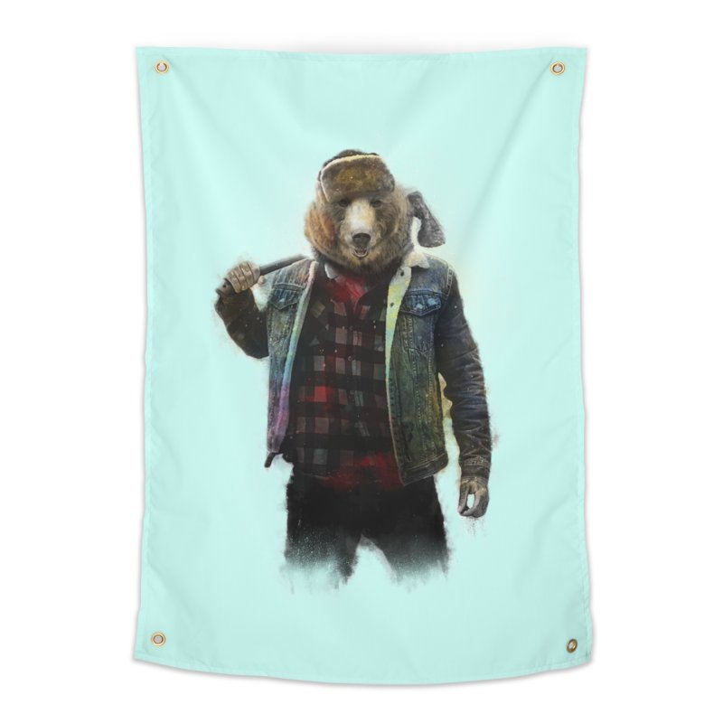 Blizzard Bear Home Tapestry by daniac's Artist Shop