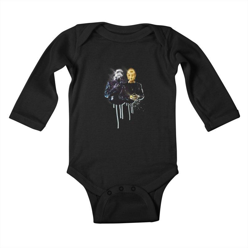 Daft Force Kids Baby Longsleeve Bodysuit by daniac's Artist Shop