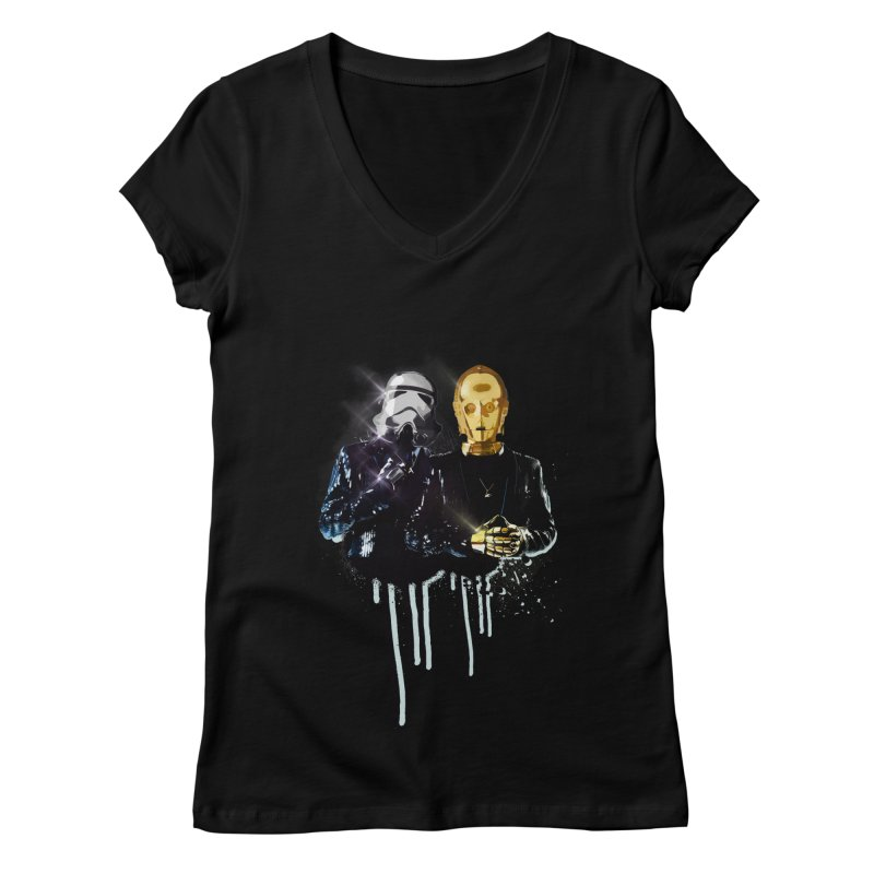 Daft Force Women's Regular V-Neck by daniac's Artist Shop