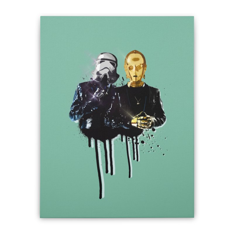 Daft Force Home Stretched Canvas by daniac's Artist Shop