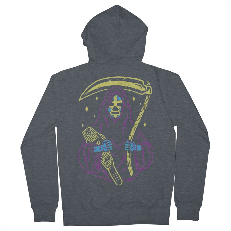 The death always win Women's French Terry Zip-Up Hoody by daniac's Artist Shop