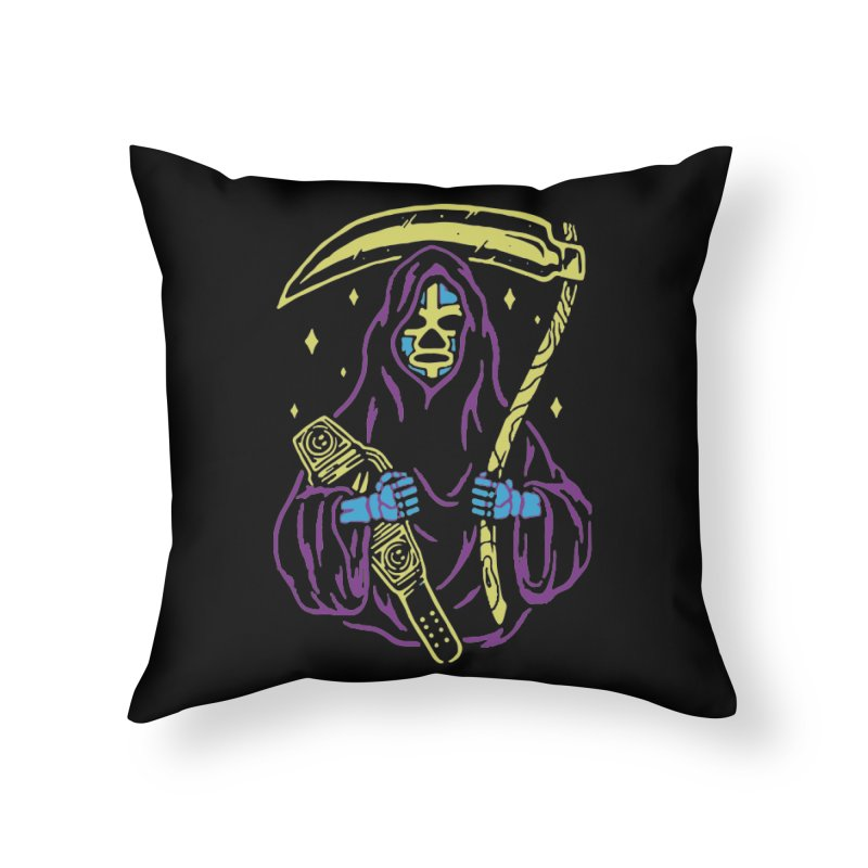 The death always win Home Throw Pillow by daniac's Artist Shop