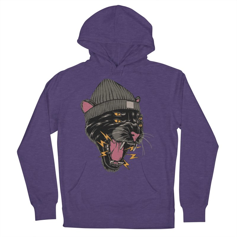 Urban panther Women's French Terry Pullover Hoody by daniac's Artist Shop