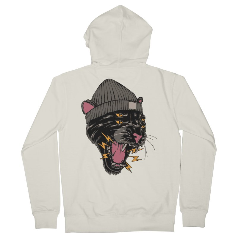 Urban panther Women's French Terry Zip-Up Hoody by daniac's Artist Shop