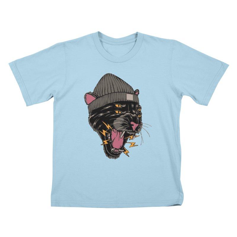Urban panther Kids T-Shirt by daniac's Artist Shop