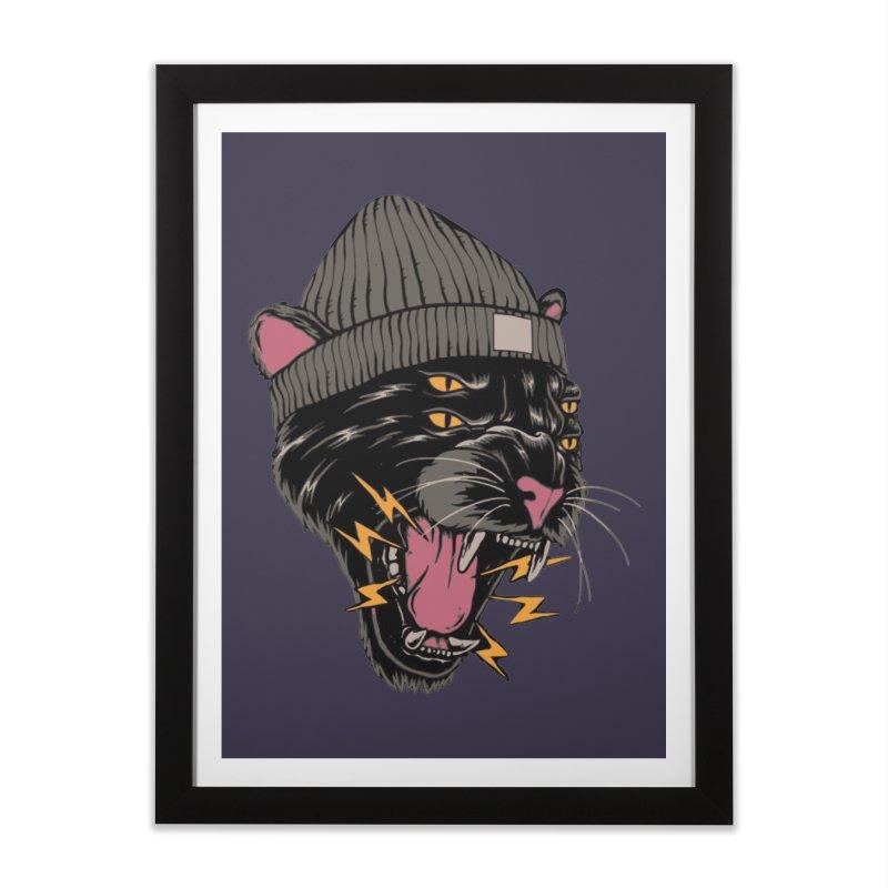Urban panther Home Framed Fine Art Print by daniac's Artist Shop