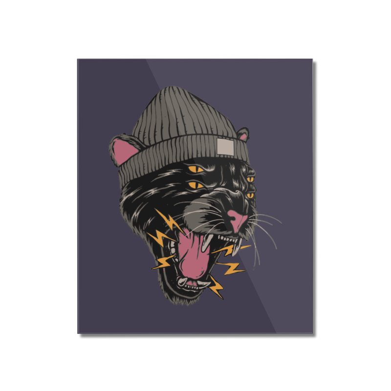 Urban panther Home Mounted Acrylic Print by daniac's Artist Shop