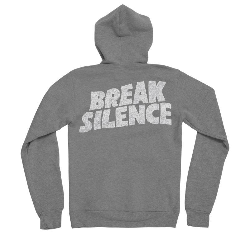 Break the silence Women's Sponge Fleece Zip-Up Hoody by daniac's Artist Shop