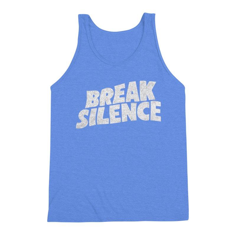 Break the silence Men's Triblend Tank by daniac's Artist Shop