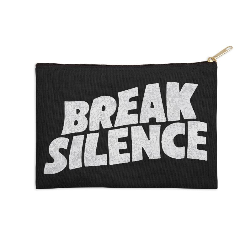 Break the silence Accessories Zip Pouch by daniac's Artist Shop