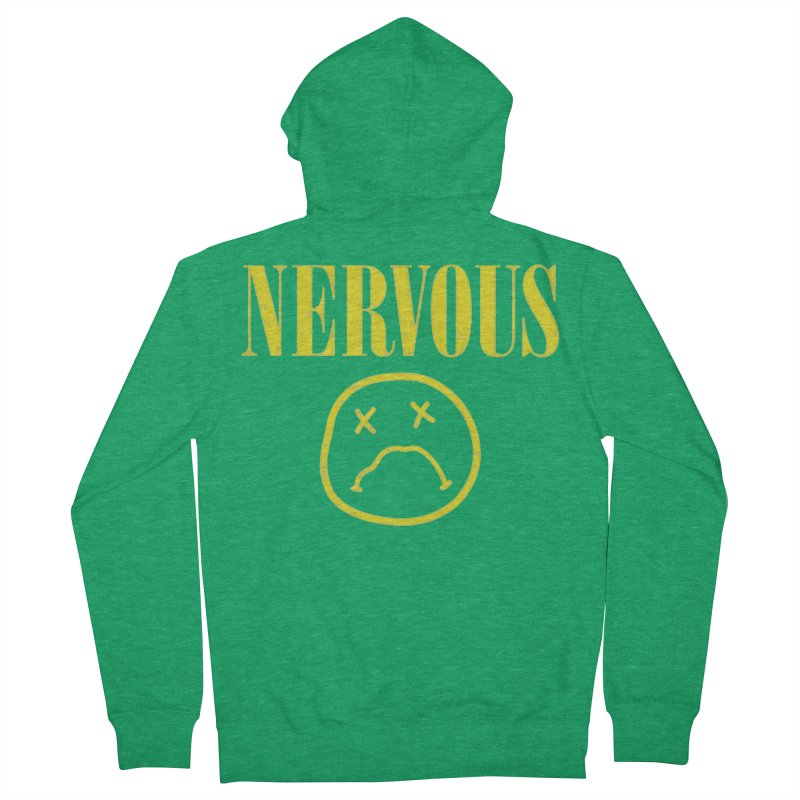 Nervous Women's French Terry Zip-Up Hoody by daniac's Artist Shop