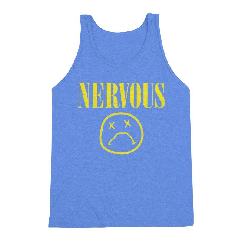 Nervous Men's Triblend Tank by daniac's Artist Shop