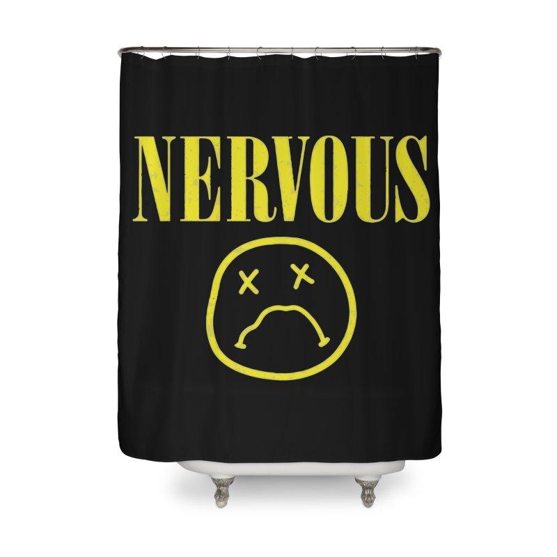 Nervous Home Shower Curtain by daniac's Artist Shop