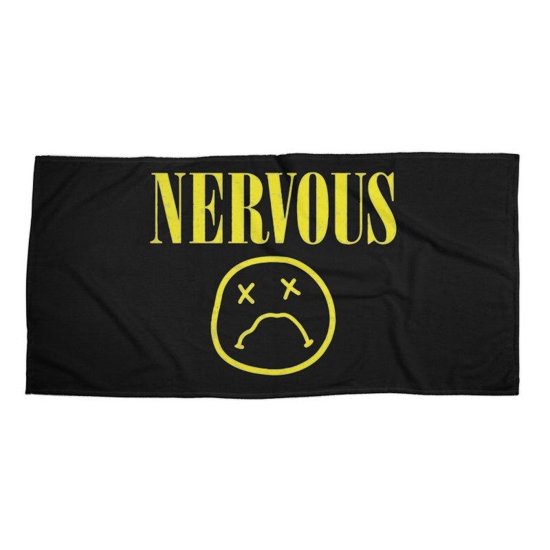 Nervous Accessories Beach Towel by daniac's Artist Shop
