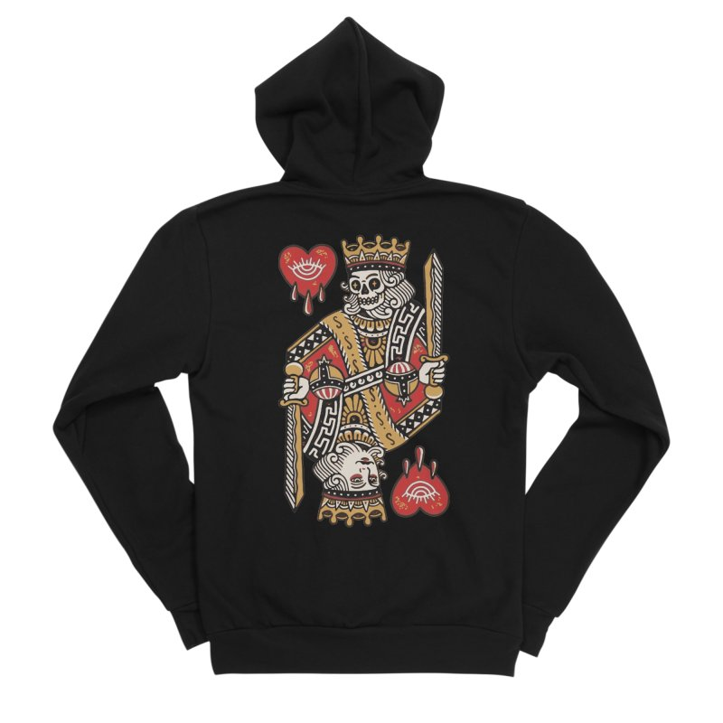 King heart Women's Sponge Fleece Zip-Up Hoody by daniac's Artist Shop