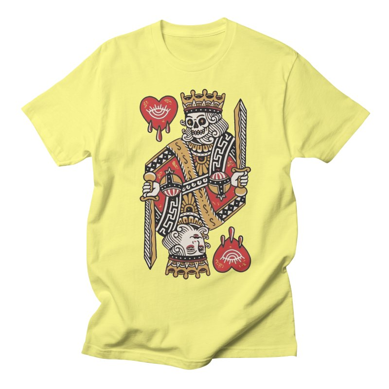 King heart Women's Regular Unisex T-Shirt by daniac's Artist Shop