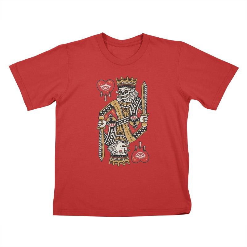 King heart Kids T-Shirt by daniac's Artist Shop