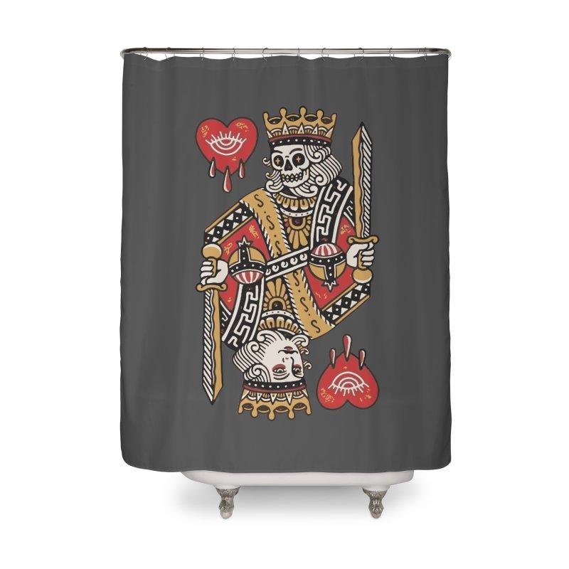 King heart Home Shower Curtain by daniac's Artist Shop