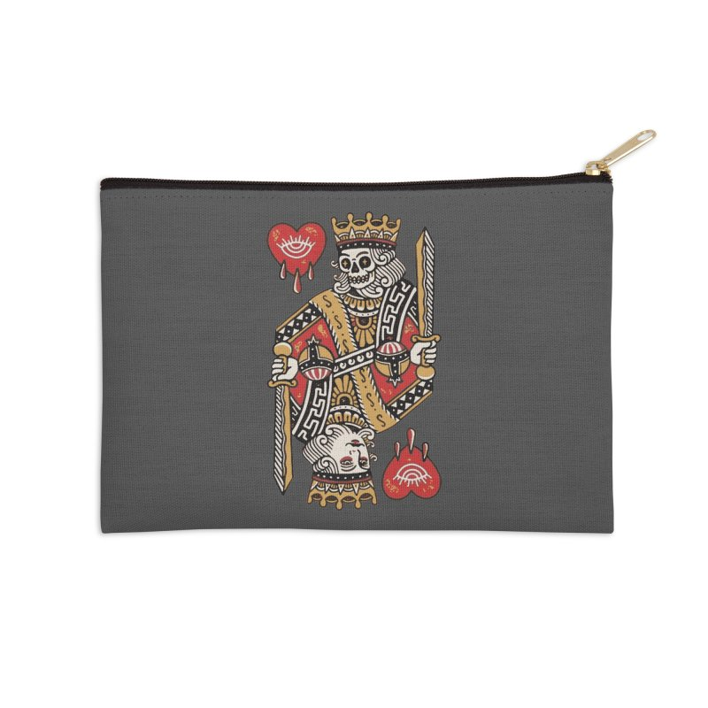 King heart Accessories Zip Pouch by daniac's Artist Shop
