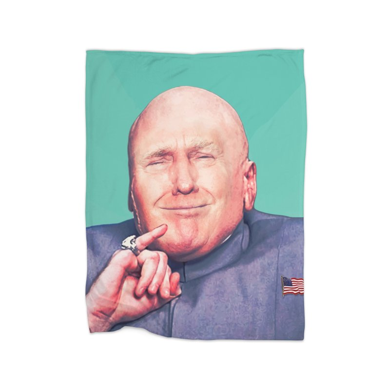 President Malito Home Fleece Blanket Blanket by daniac's Artist Shop