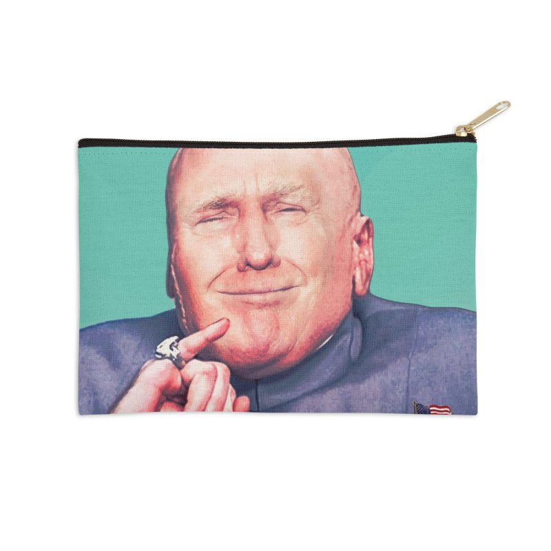 President Malito Accessories Zip Pouch by daniac's Artist Shop