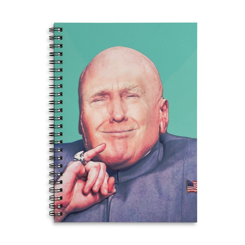 President Malito Accessories Lined Spiral Notebook by daniac's Artist Shop