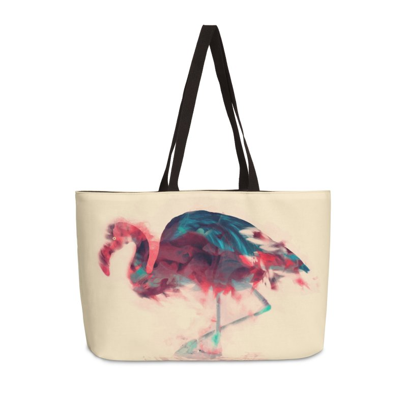 Born Flamingo Accessories Weekender Bag Bag by daniac's Artist Shop