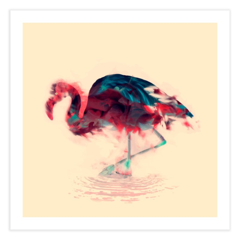 Born Flamingo Home Fine Art Print by daniac's Artist Shop