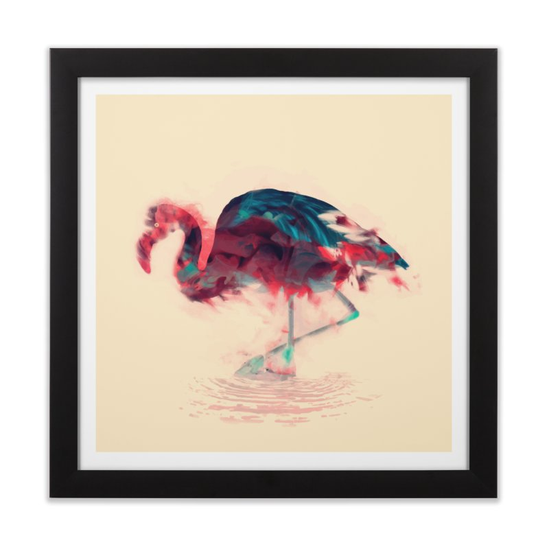 Born Flamingo Home Framed Fine Art Print by daniac's Artist Shop