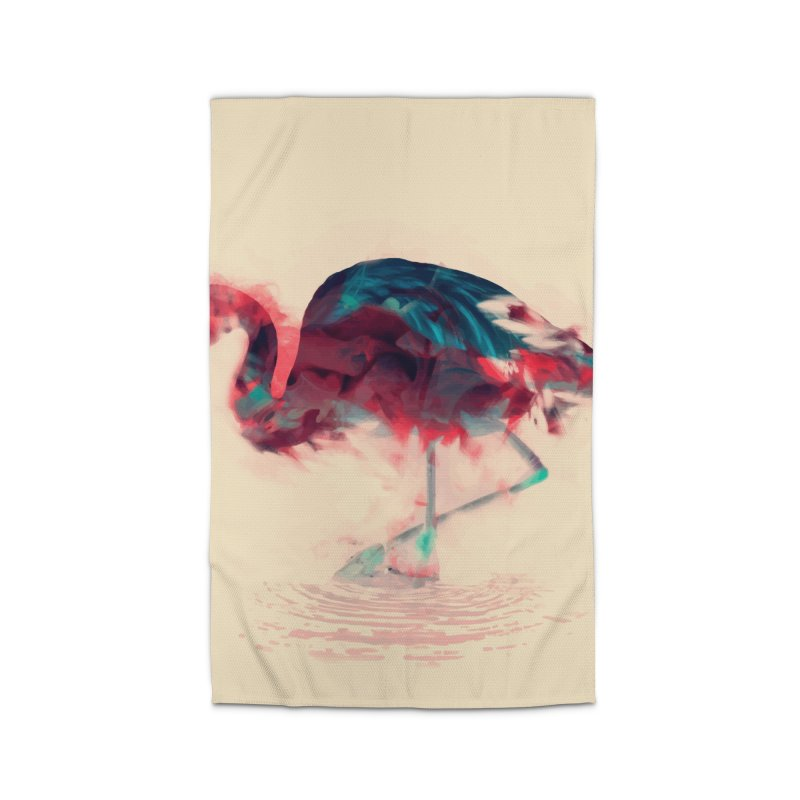 Born Flamingo Home Rug by daniac's Artist Shop